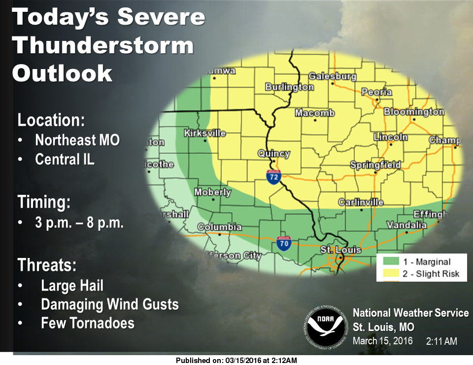 """""""Marginal"""" Risk for Severe Storms in Fayette County this afternoon, stronger risk to our north"""