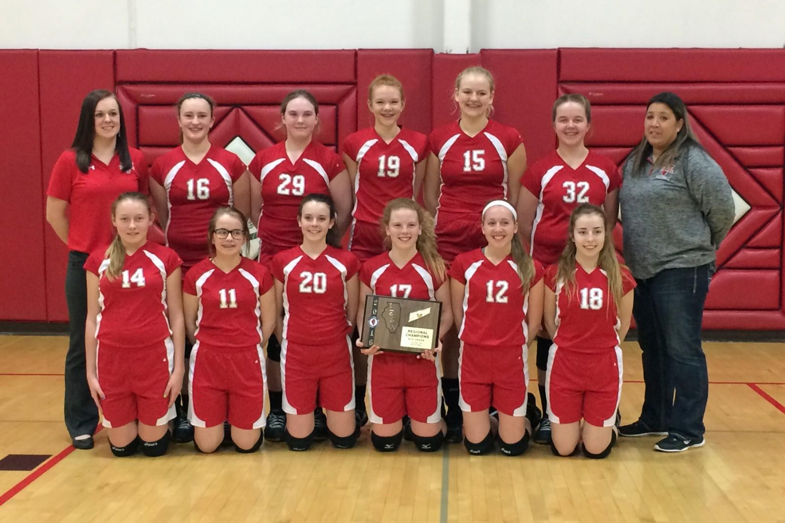 Lady Vandals 8th grade volleyball team wins Regional Championship