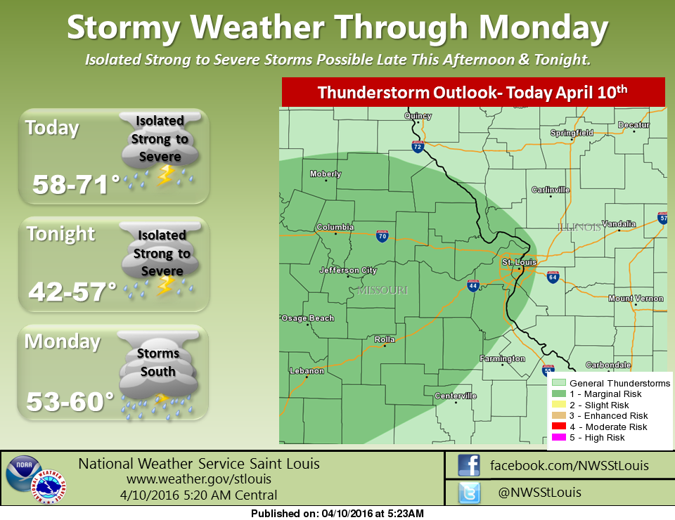 Showers and Storms likely for today and tonight