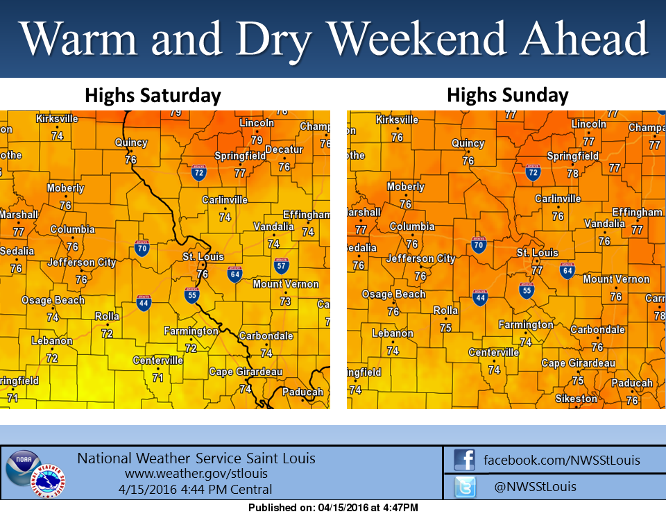 Warm and Dry Weekend