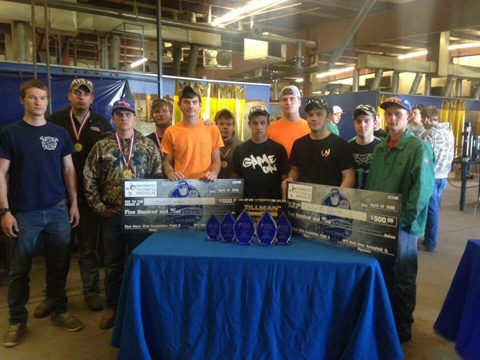 Eleven Okaw Vocational Center Students Place in Top 15 of MTI Welding Competition