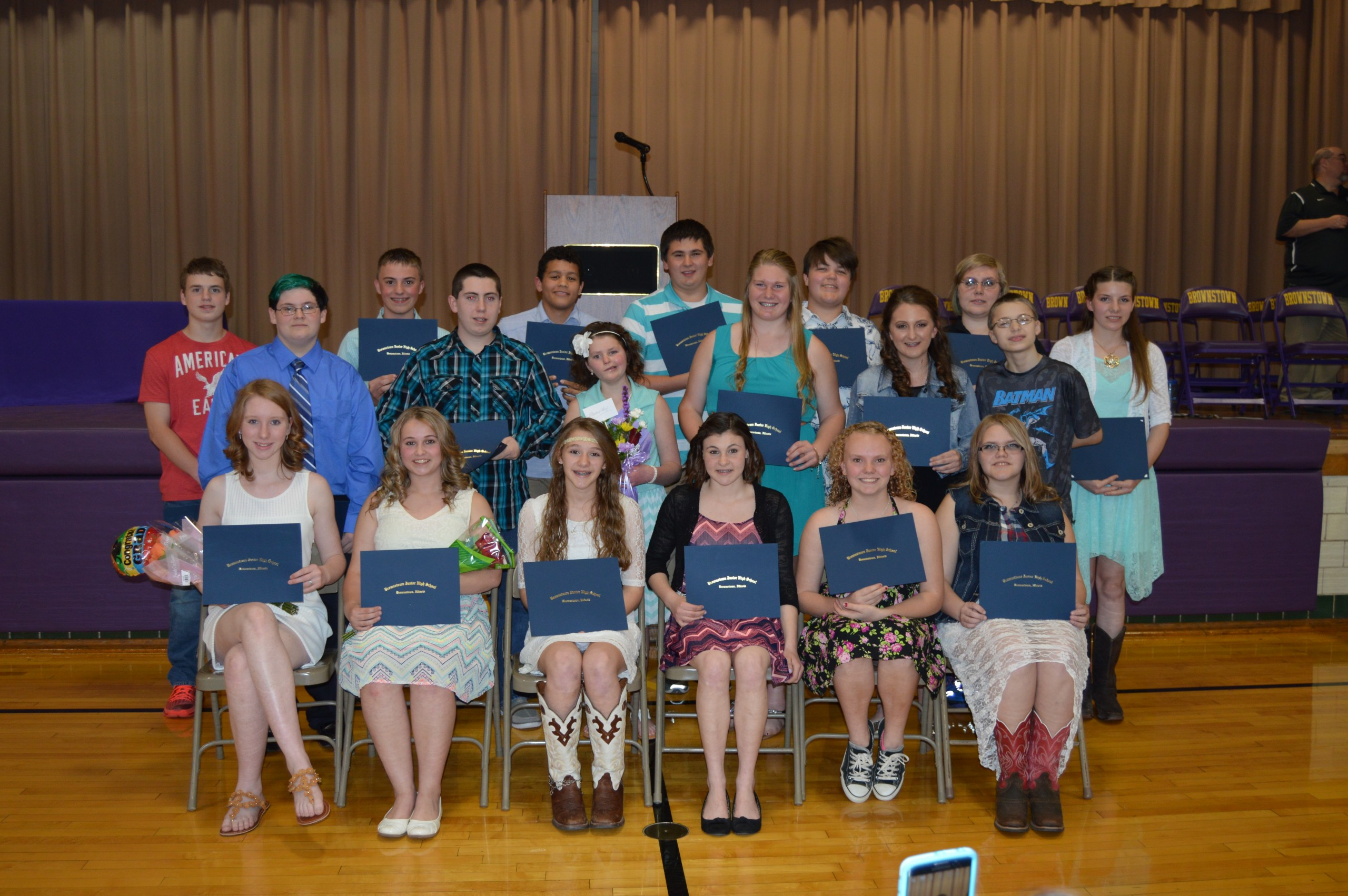 Brownstown holds 8th grade promotion/recognition ceremony