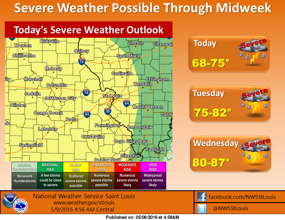 More storms-possibly some more severe storms-on the way for this afternoon, tonight