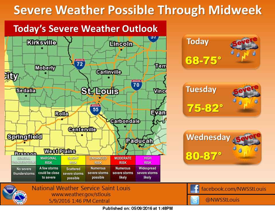 """Update--NWS says Severe Weather Chance """"Marginal"""" for Fayette County"""