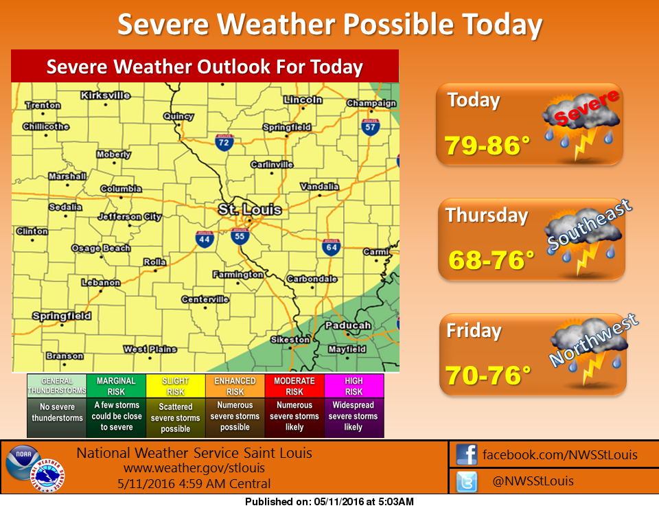 Update on potential for severe weather today around the area