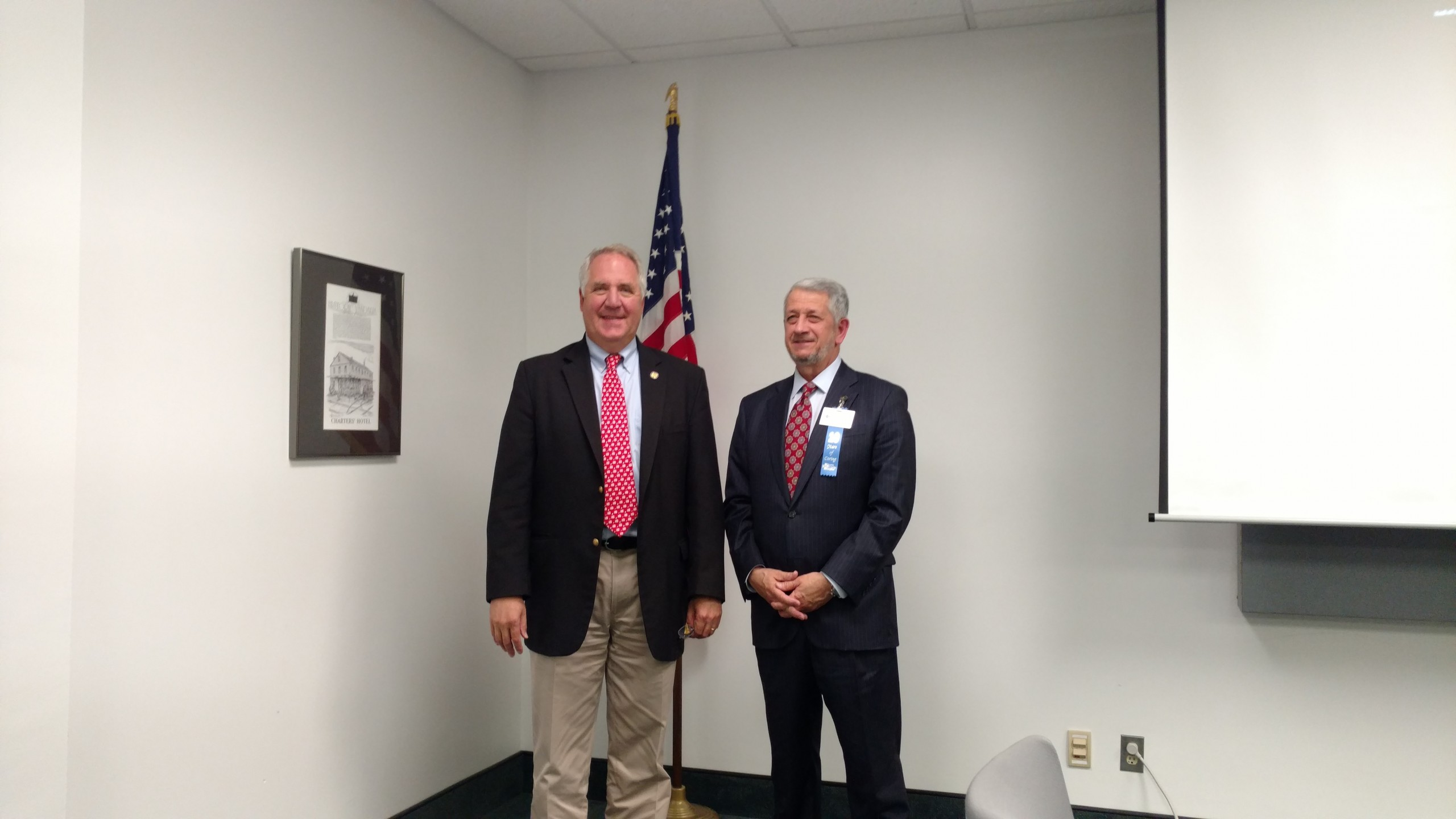 Congressman Shimkus makes stop at Fayette County Hospital