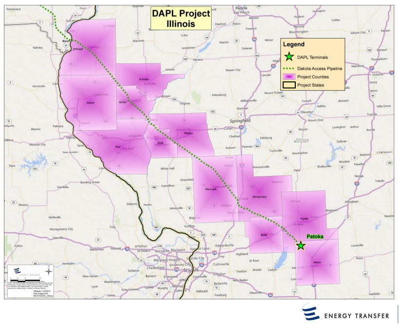 Company looking for OK from Iowa to start pipeline work-Line would then head to Illinois