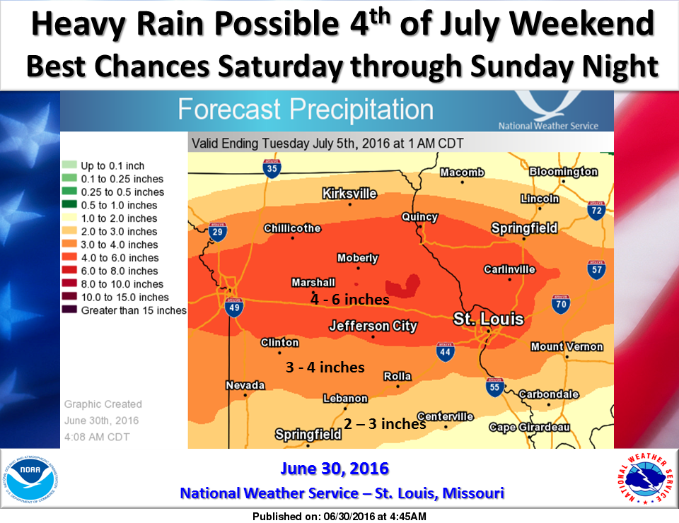 Heavy Rainfall possible---3 to 4 inches looks possible for our area