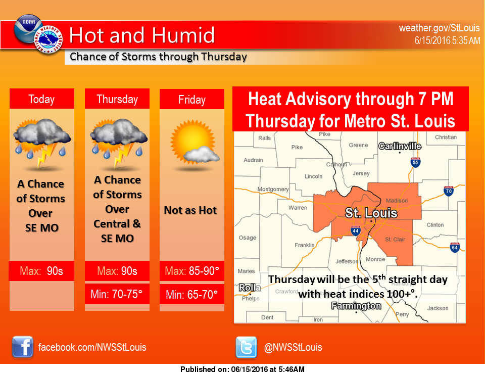 More hot weather today, possibility of a strong to severe storm in the area