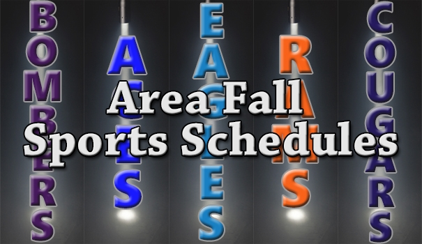 2016 Area Fall Sports Schedules