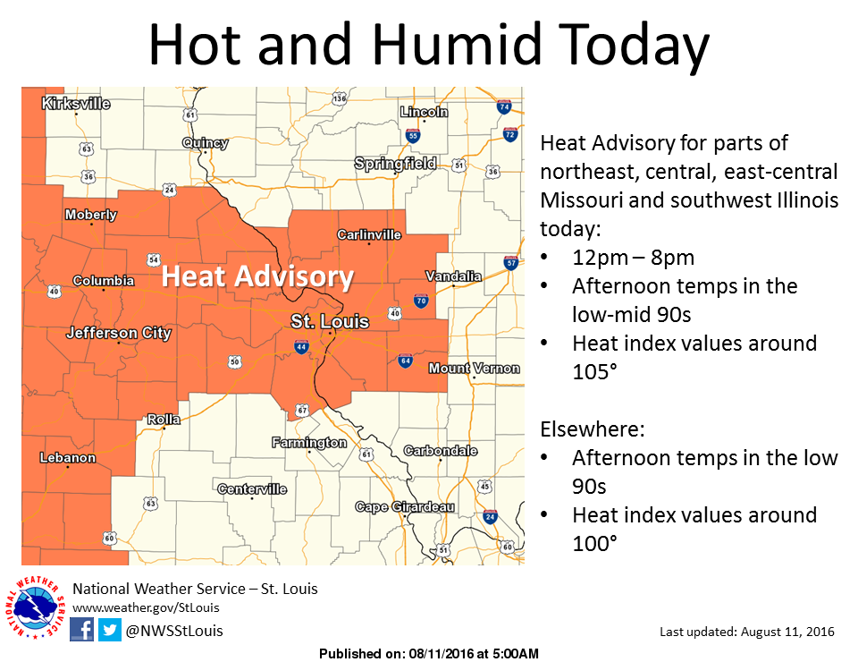 Heat, humidity and storms over next few days