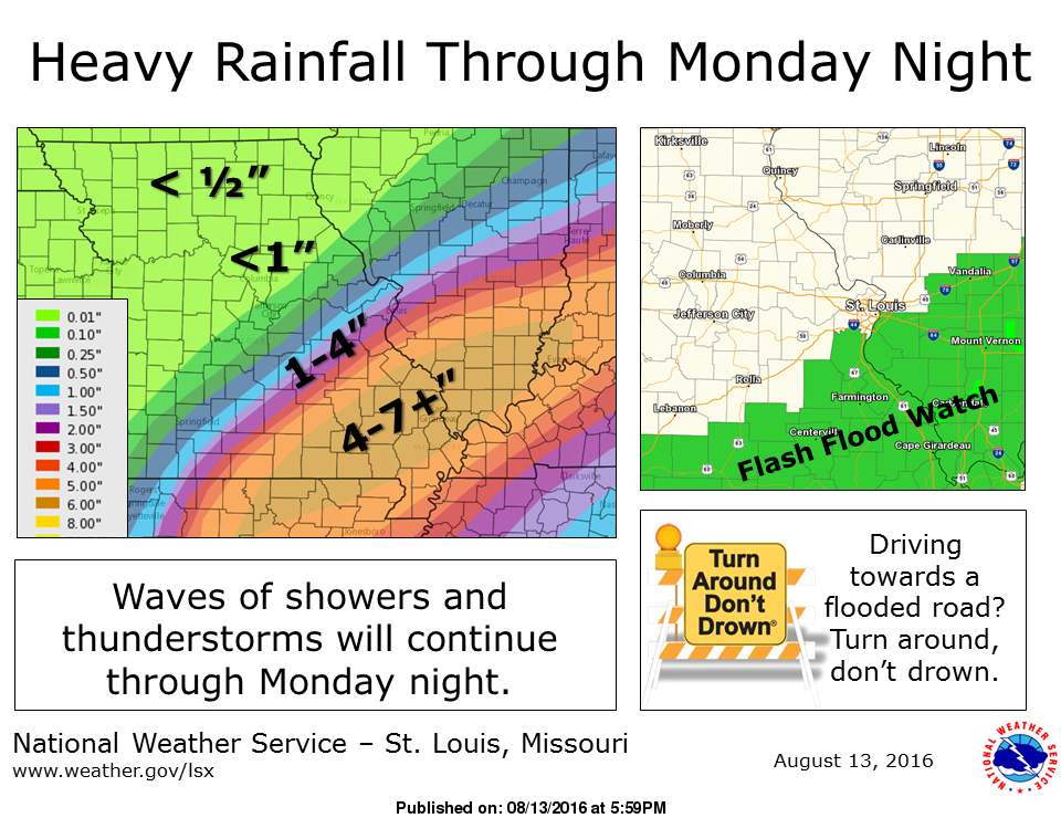 Heavy Rainfall for today and Monday