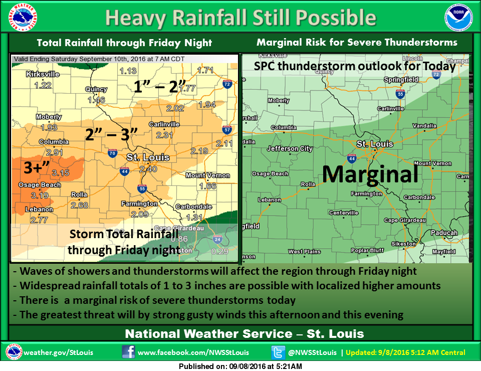 Strong Storms, Heavy Rains are on the way
