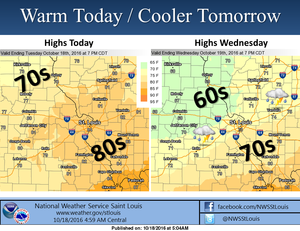 Although not quite to the extreme of Monday, we are in for another warm and windy day today