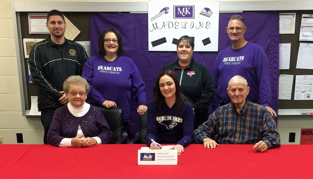 VCHS Senior Cade Signs To Run Track for McKendree