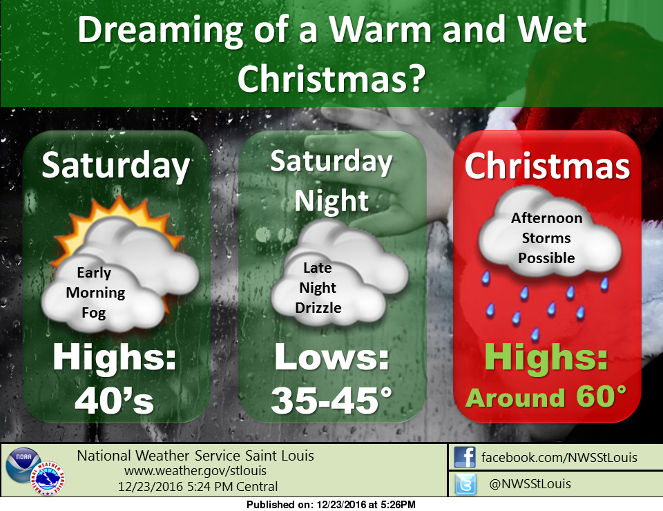 Fog this morning, then cloudy and mild for Christmas Eve
