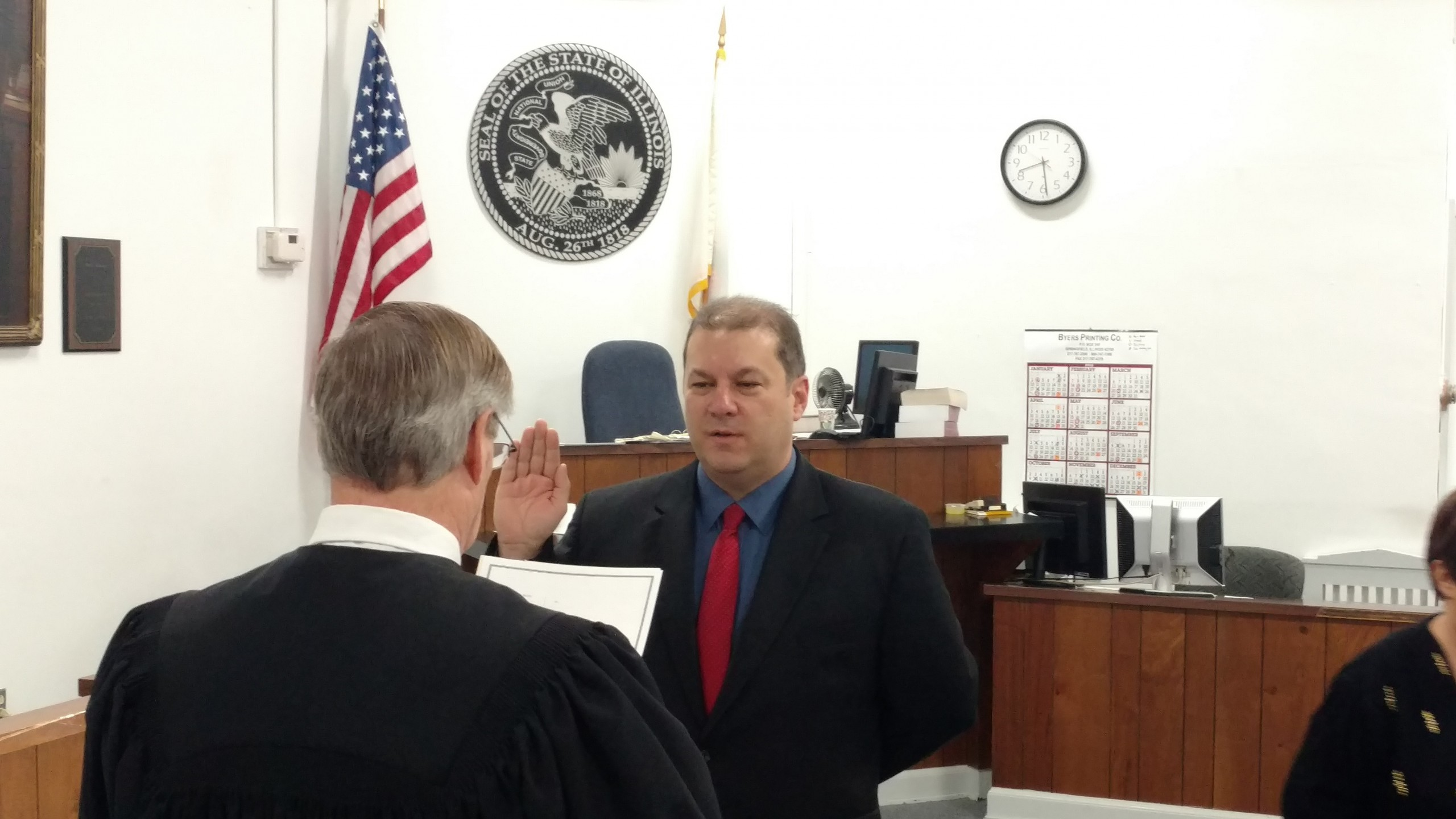 Joshua Morrison takes oath to serve 2nd term as Fayette County State's Attorney