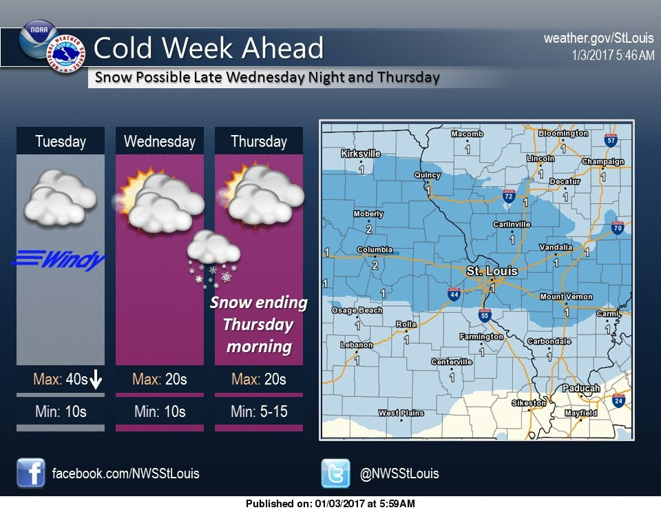 Snow looks to be on the way Wednesday night/Thursday morning