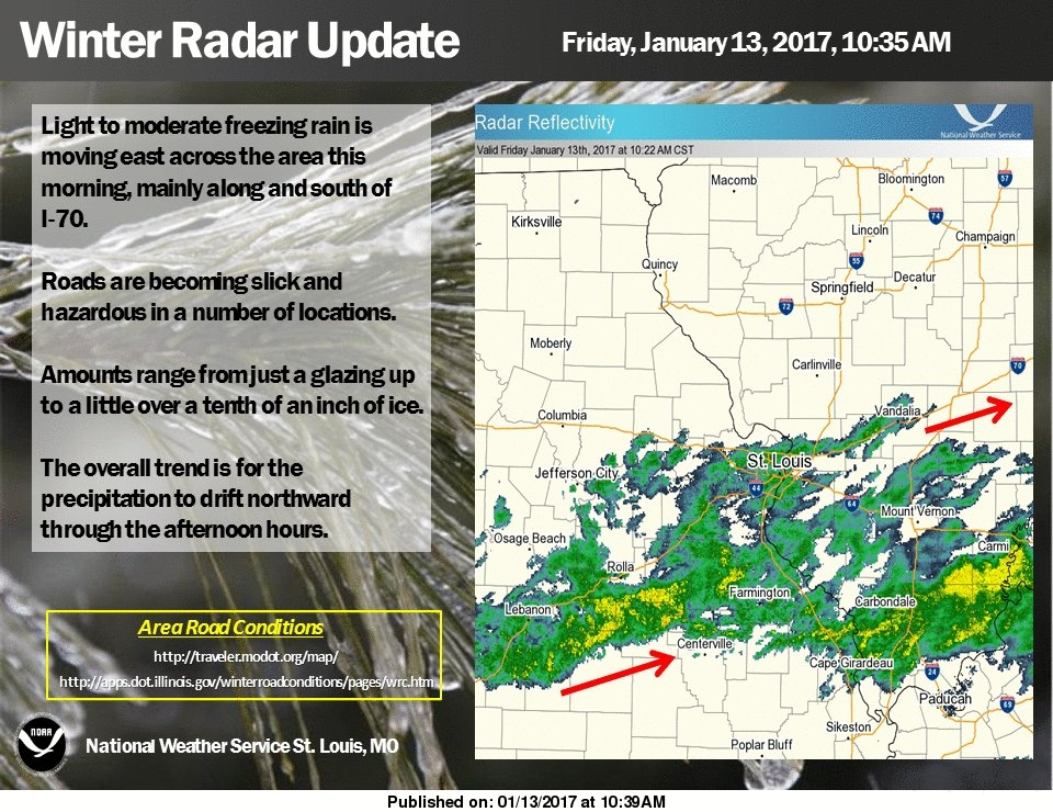 Freezing rain has arrived in Fayette Co---latest update from the NWS