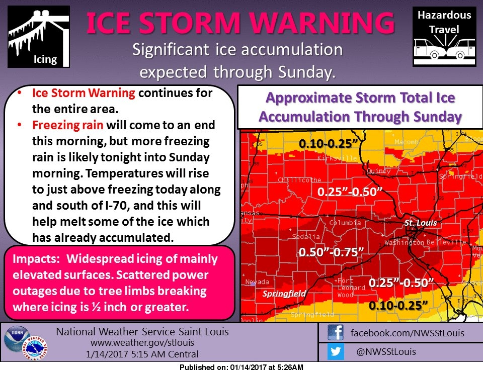 More freezing rain for today and tonight