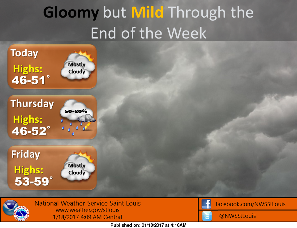 Unseasonably warm temps, with rain, will continue over the next several days