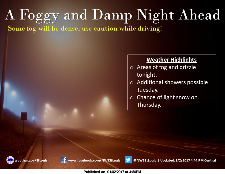 Dense Fog Advisory until 6 am Tuesday