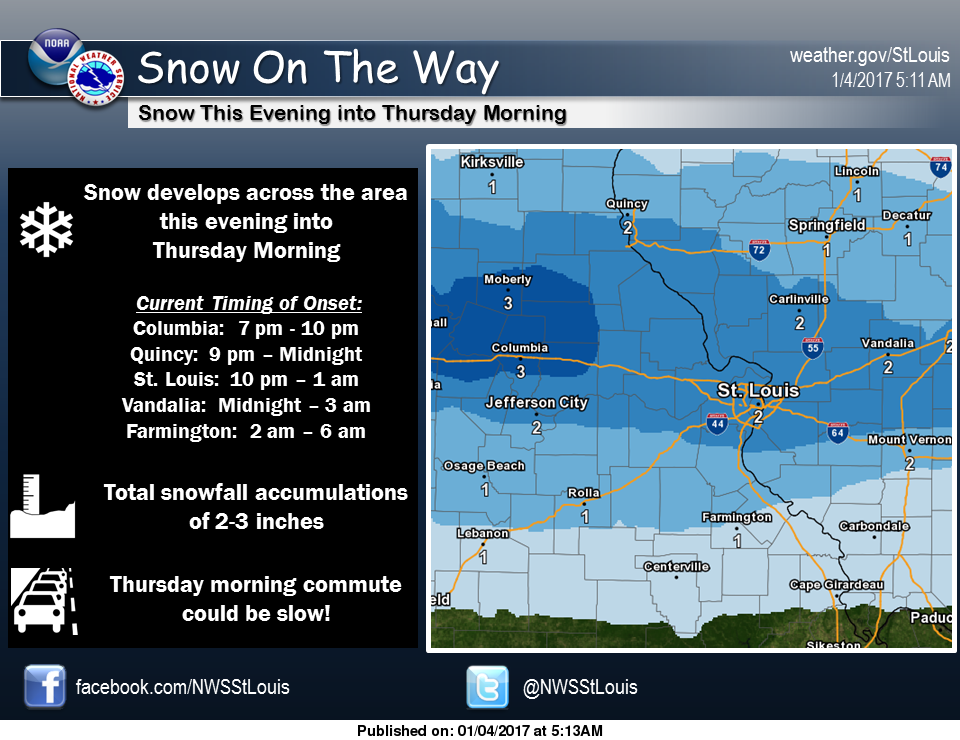 Snow for tonight and tomorrow--Winter Weather Advisory begins at 9 pm
