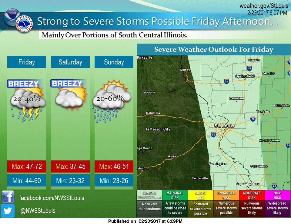 NWS warns of chance for a strong to severe storm this afternoon