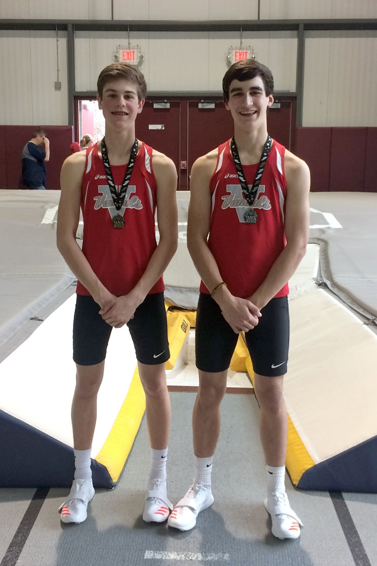 Steele, Withers Medal in First Indoor Meet of VCHS Track Season