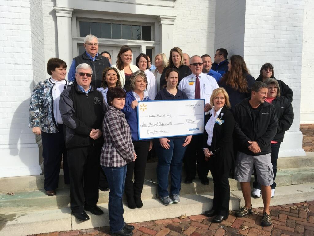 Vandalia Historical Society gets $3,000 donation from Wal-Mart