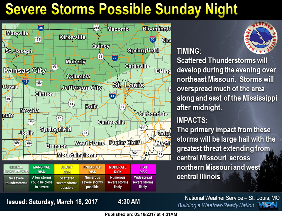 Mild for Saturday & Sunday, chance of storms on Sunday night