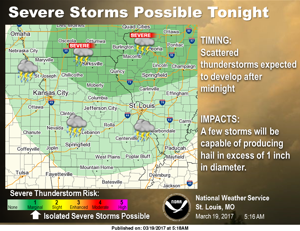 Sunny and Mild during the day, could see severe storms overnight tonight into Monday morning