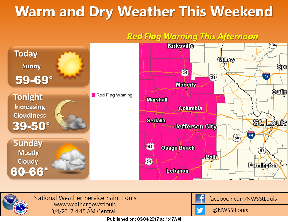 Unseasonably warm weekend ahead