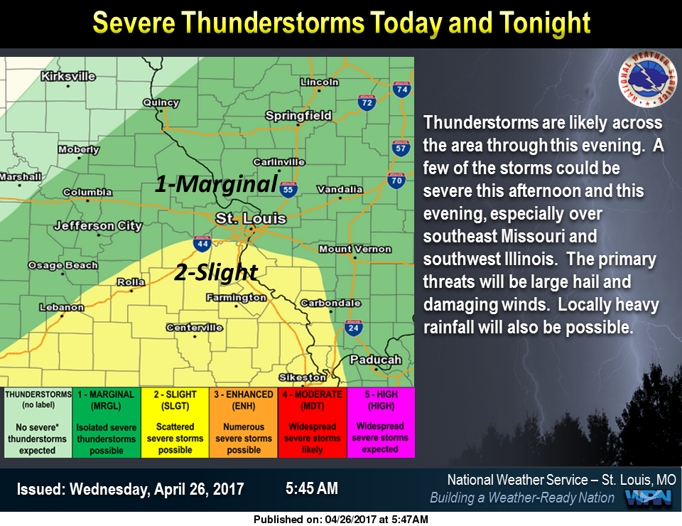 Strong to Severe Storms, Heavy Rain Possible for this Afternoon & Tonight