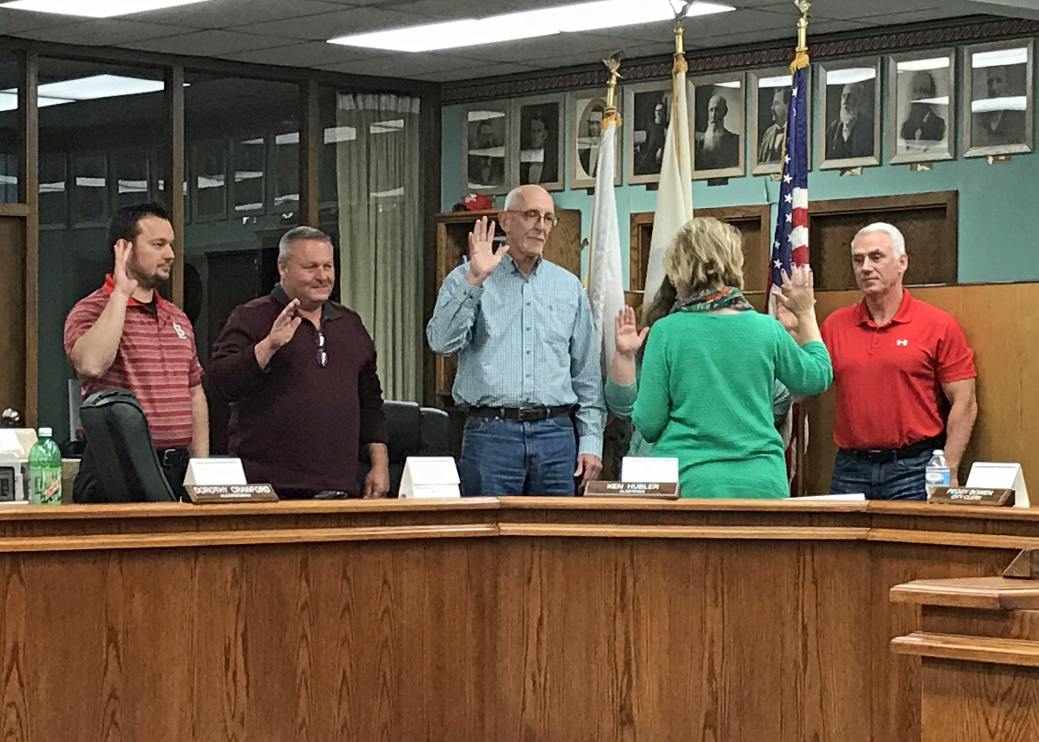 New Alderman and Re-Elected Council Members Sworn In