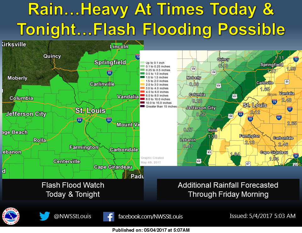 Rain continues today and tonight