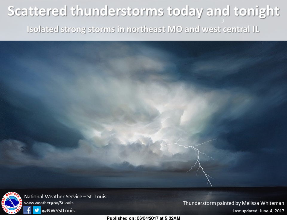Chance of Showers and Thunderstorms for today and tonight