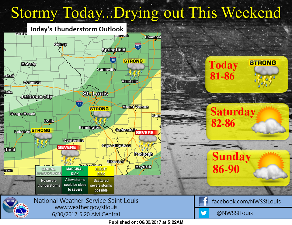 Strong to severe storms possible around the area today