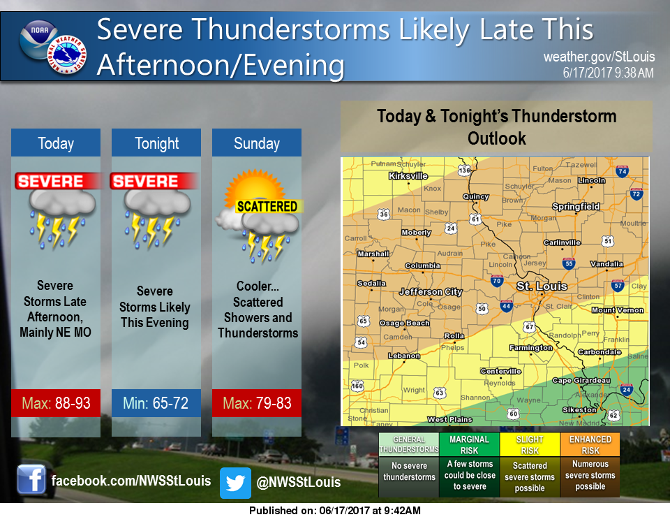 """Updated weather model puts Fayette County with """"Enhanced"""" Risk for Severe Weather tonight"""