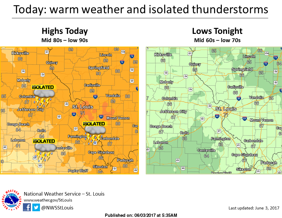 Warm and Dry for Saturday, Chance of Storms Sunday