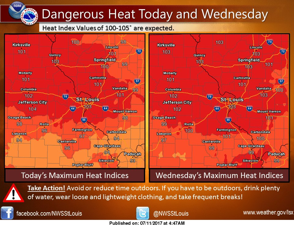 Hot and Humid conditions continue today and tomorrow