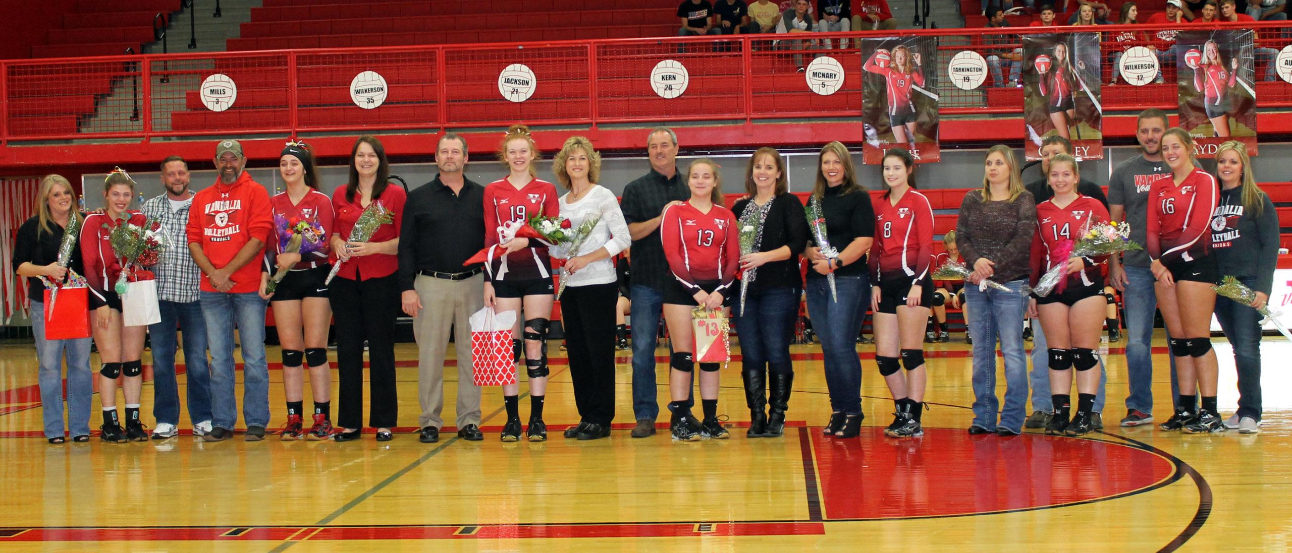 Lady Vandals Volleyball Wins On Senior Night