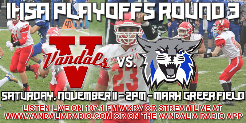 Vandals 3rd round home playoff game today versus Anna-Jonesboro---Info for game