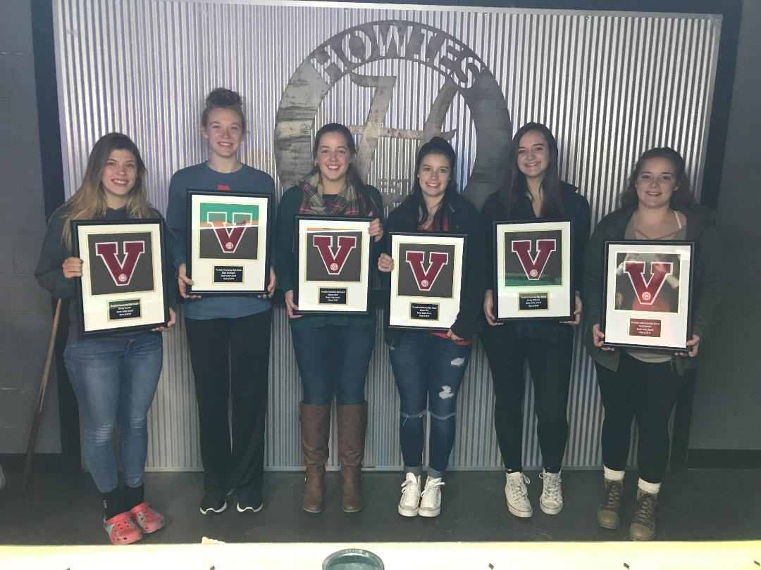 Lady Vandals Volleyball hands out their Awards