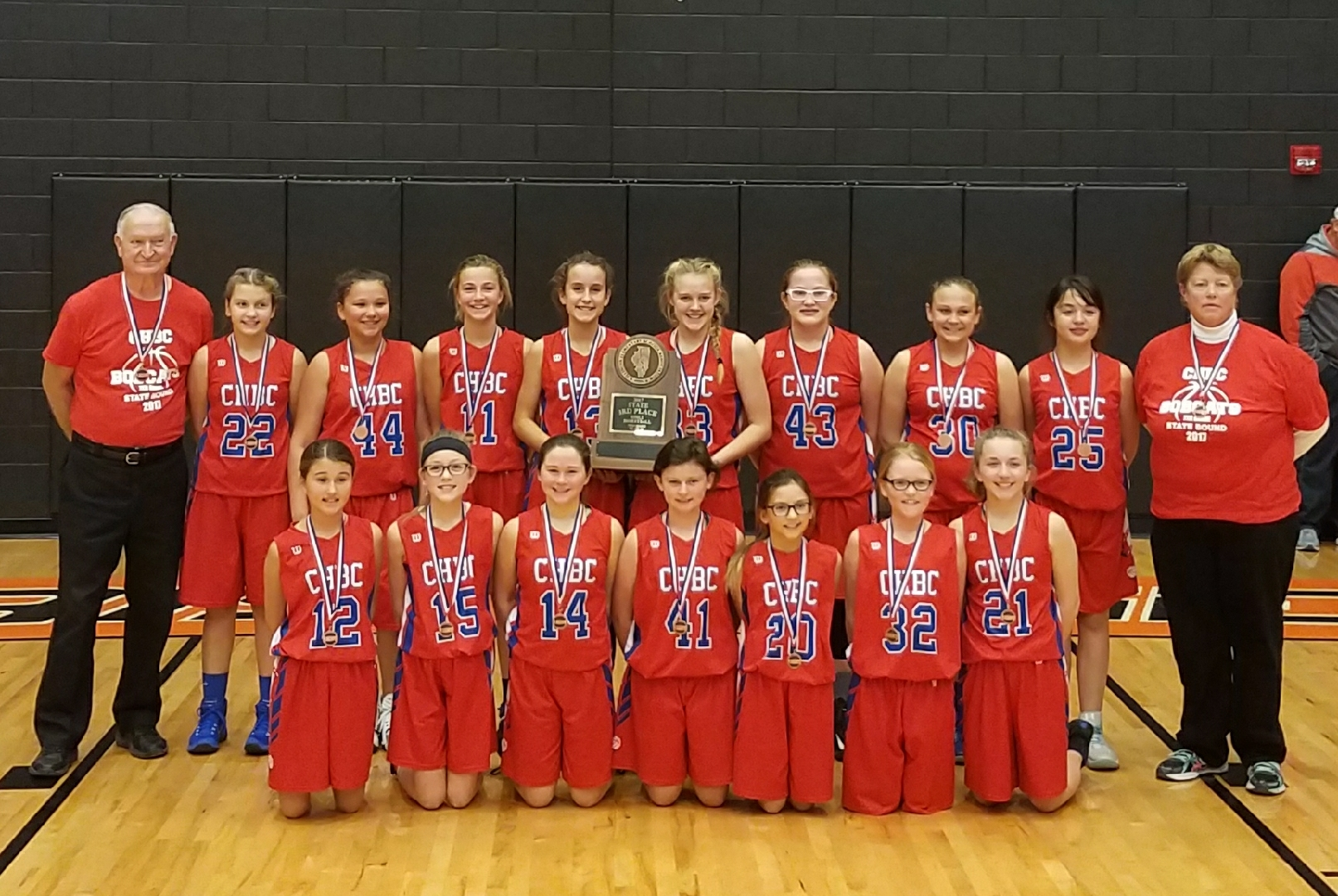 CHBC 7th grade girls basketball team takes 3rd place in State Tournament
