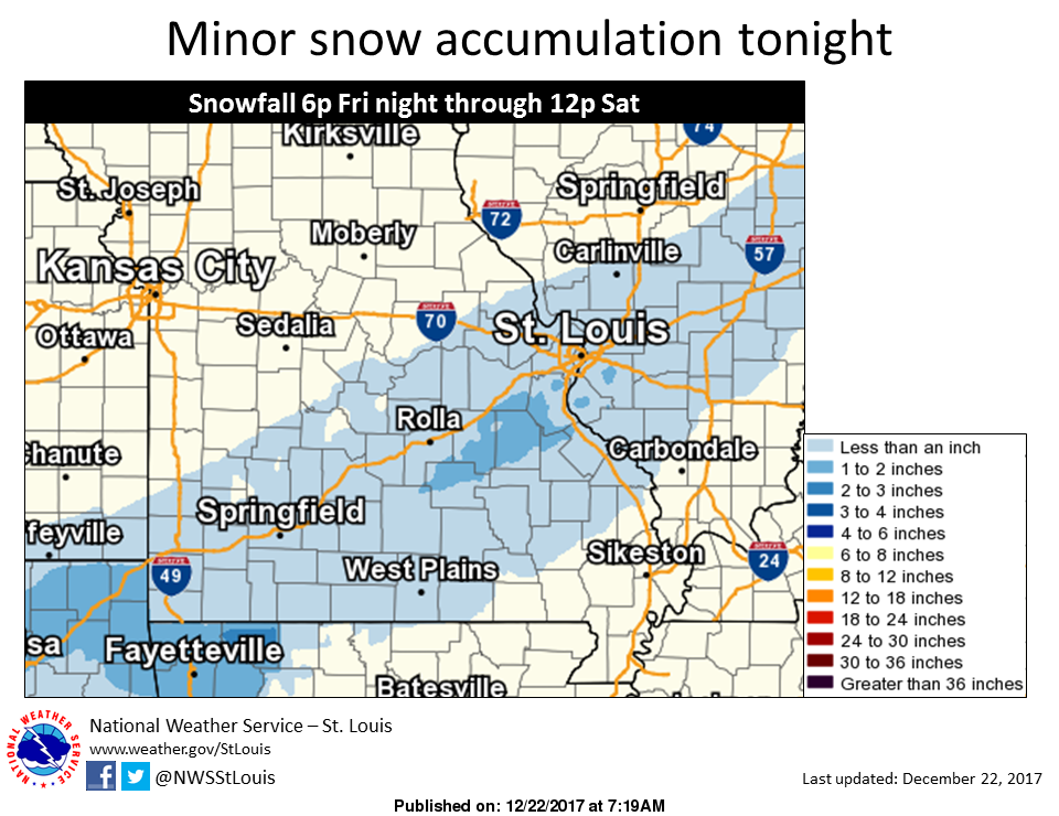 We could see some snow tonight or early Saturday morning---accumulation of less than a half inch expected