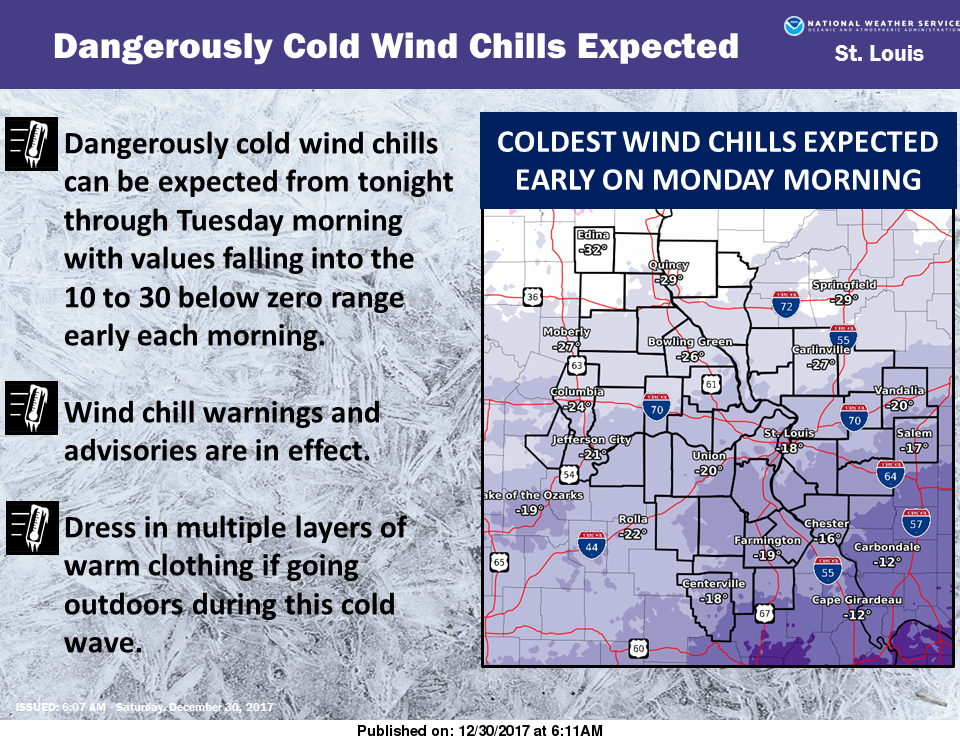 Dangerously cold conditions are in store for this holiday weekend