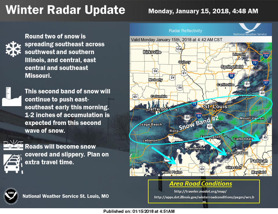 Snow continues this morning, followed by falling temps and blustery conditions