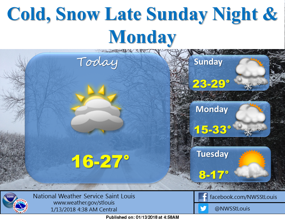 Cold Weekend on Tap, Snow on Monday