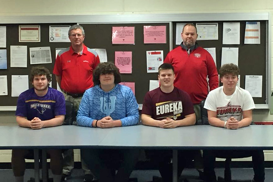 Four Vandals Football Player Sign Letters of Intent To Play Collegiately